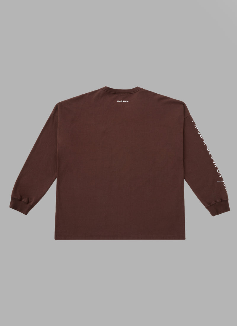 ALWAYS OUT OF STOCK × CLUB HARIE CRUSH ON YOU L/S TEE-BROWN