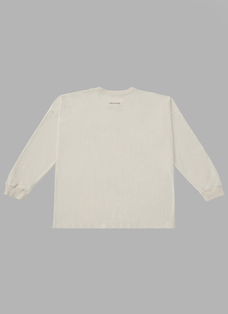ALWAYS OUT OF STOCK × CLUB HARIE SHOELACE L/S TEE-BEIGE