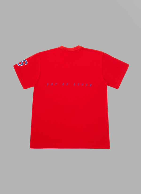 SLASH LOGO TEE-RED