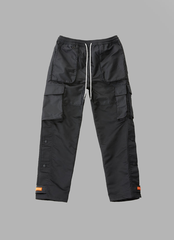 ACTIVE FATIGUE PANTS-BLACK