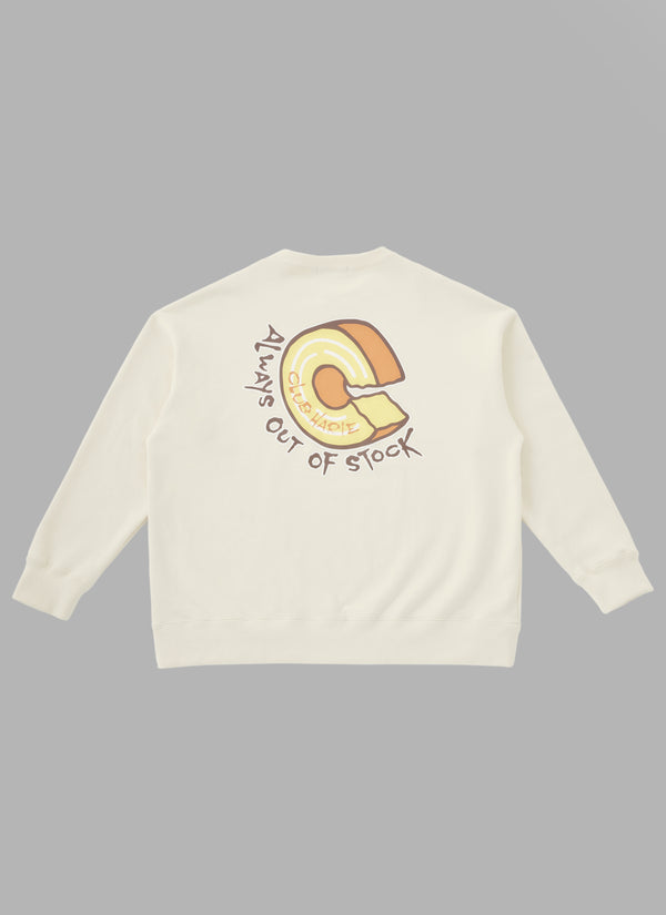 ALWAYS OUT OF STOCK × CLUB HARIE CREWNECK-BEIGE