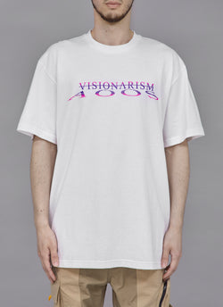 "ALWAYS OUT OF STOCK × VISIONARISM WATER REFLECTION TEE-WHITE  ""MIDNIGHT BLOSSOM"""