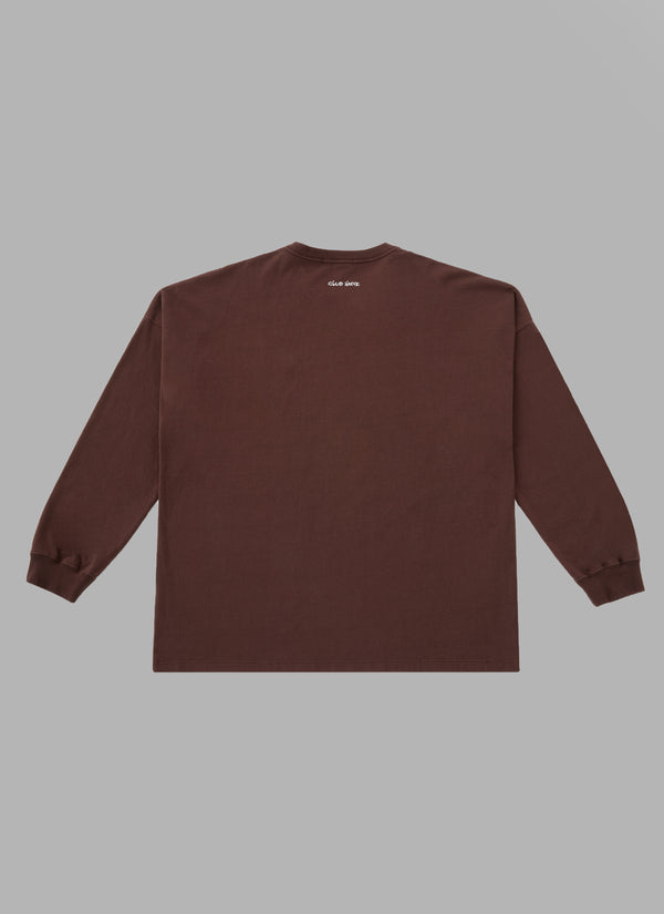ALWAYS OUT OF STOCK × CLUB HARIE SHOELACE L/S TEE-BROWN