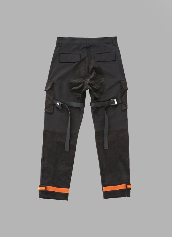 COMBI UTILITY FATIGUE PANTS-BLACK