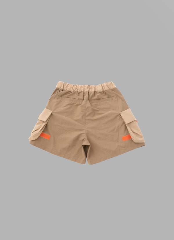 COMBINATION FATIGUE SHORTS-BEIGE