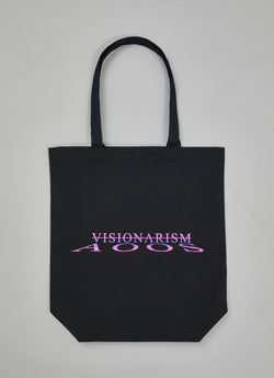 "ALWAYS OUT OF STOCK × VISIONARISM WATER REFLECTION TOTE BAG-BLACK  ""MIDNIGHT BLOSSOM"""
