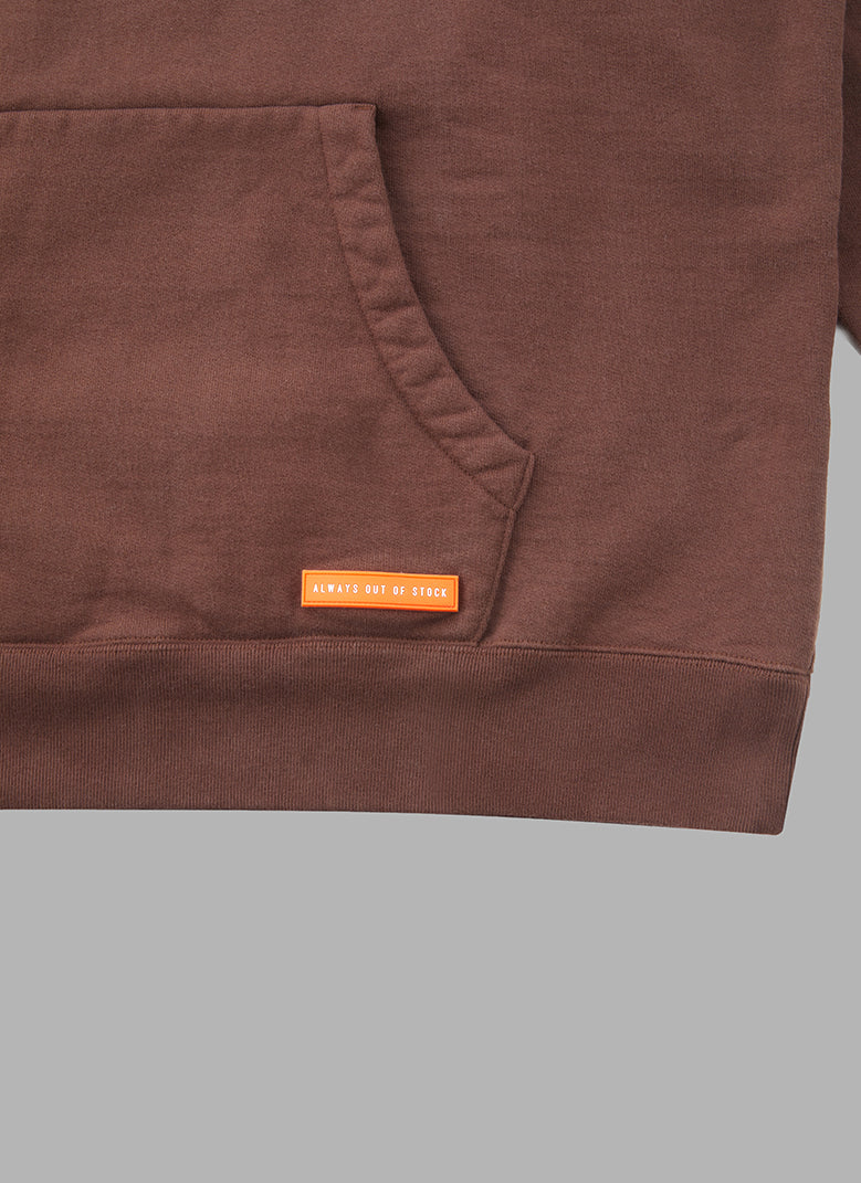 HALF NECK PULLOVER-BROWN