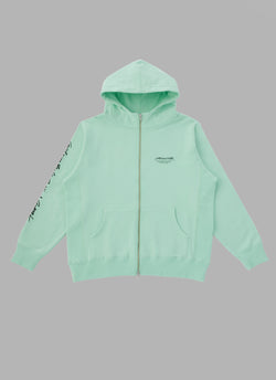 SIGNATURE ZIP UP HOODIE-MINT