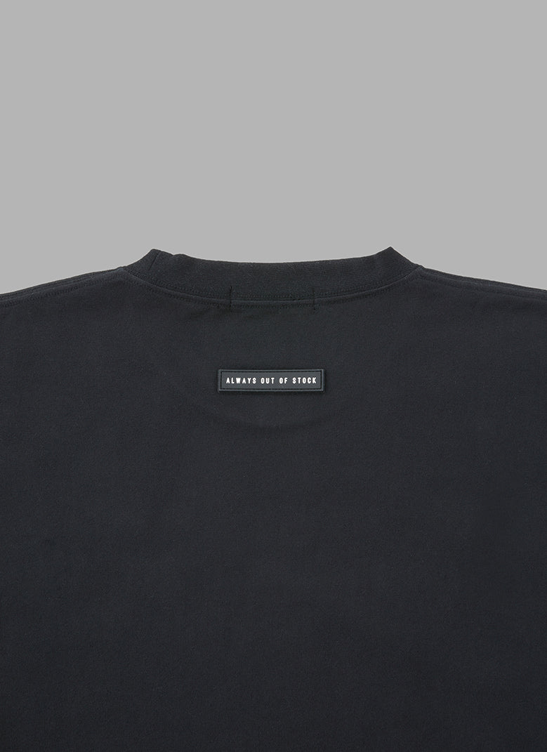 REFLECTIVE TAGGING LOGO L/S T-BLACK