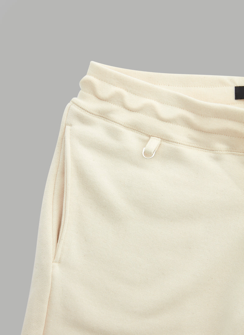 SWEAT FATIGUE SHORTS-BEIGE