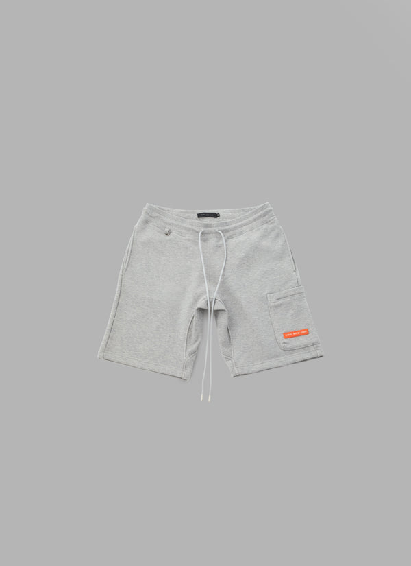 SWEAT FATIGUE SHORTS-GRAY
