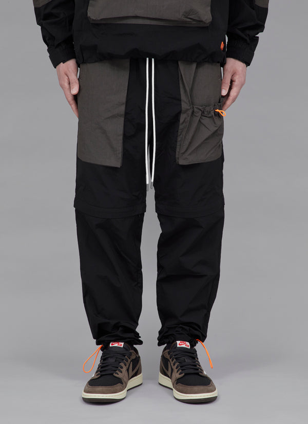 COMBINATION SHELL 2WAY PANTS-BLACK/GREY