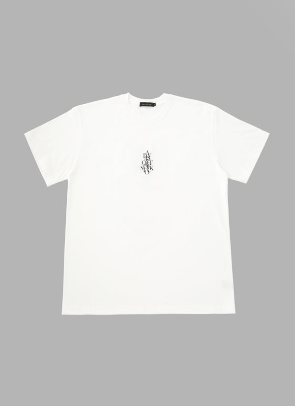 OVER WRAP TEE-WHITE
