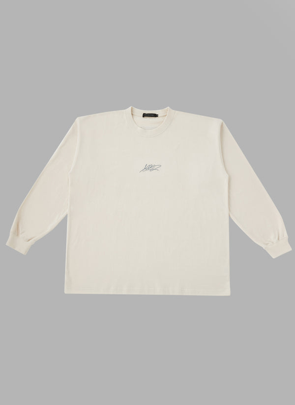 REFLECTIVE TAGGING LOGO L/S T-BEIGE