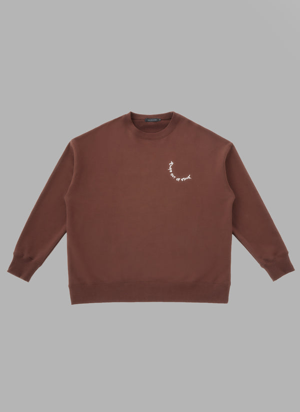 ALWAYS OUT OF STOCK × CLUB HARIE CREWNECK-BROWN