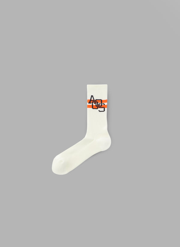 LINE HIGH SOCKS-OFF WHITE
