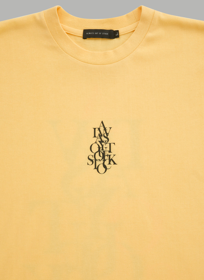 OVER WRAP TEE-YELLOW