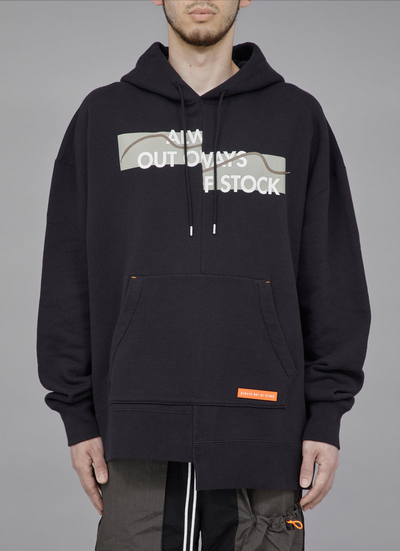 SWITCHED SHOELACE PULLOVER-BLACK