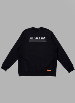 FOAMED LOGO CREWNECK-BLACK