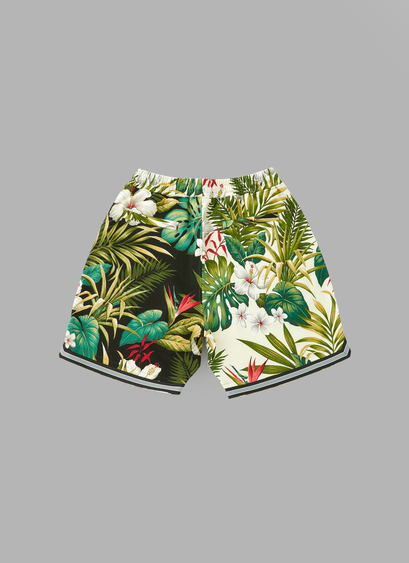 HAWAIIAN BASKET SHORTS-WHITE
