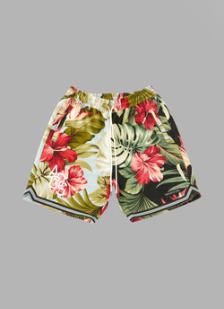 HAWAIIAN BASKET SHORTS-SAXE