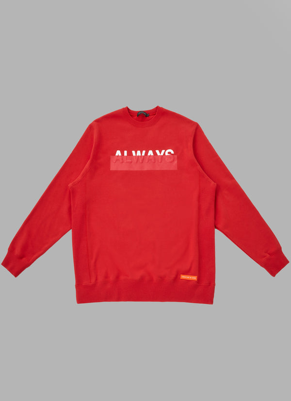 FOAMED LOGO CREWNECK-RED