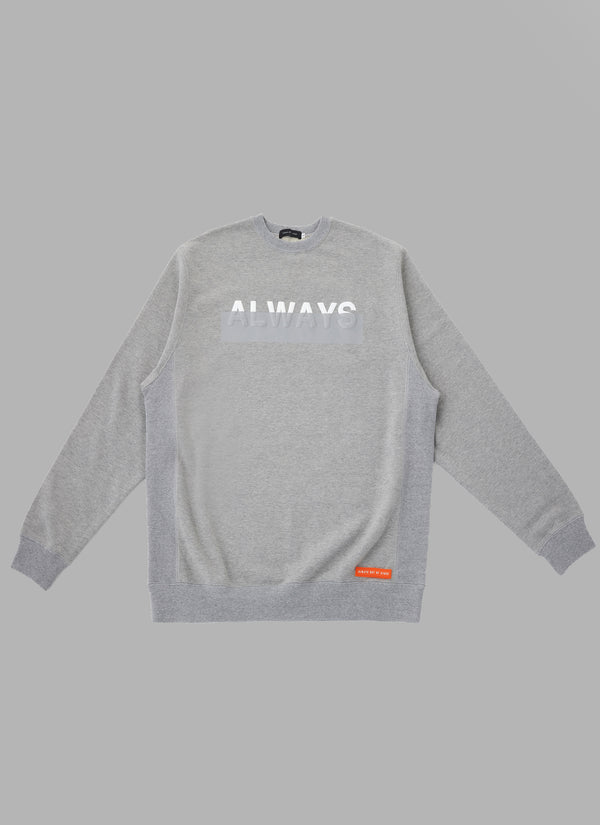 FOAMED LOGO CREWNECK-GRAY