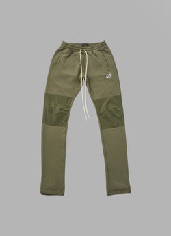 COMBINATION SWEAT PANTS-OLIVE