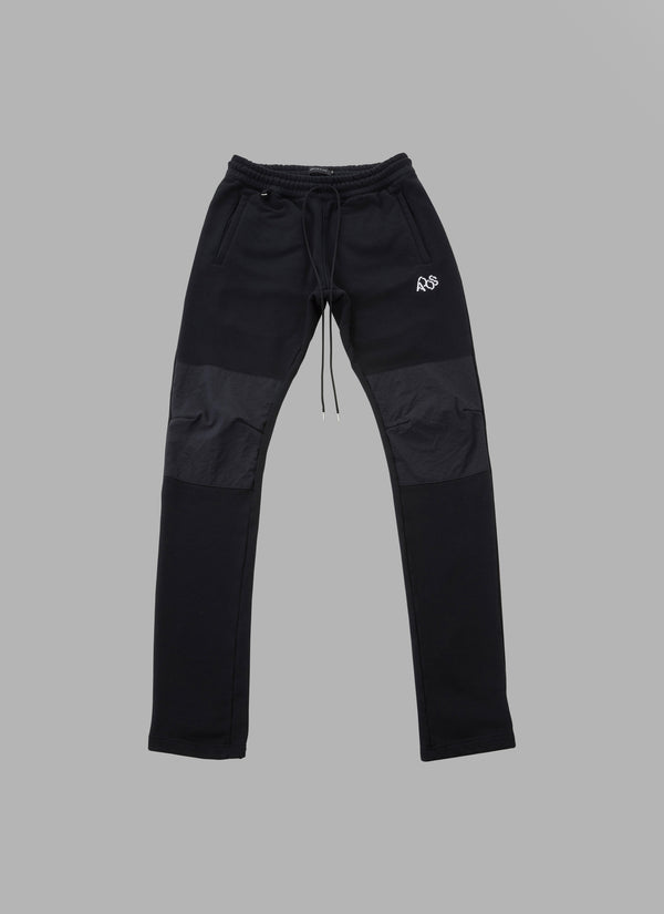 COMBINATION SWEAT PANTS-BLACK