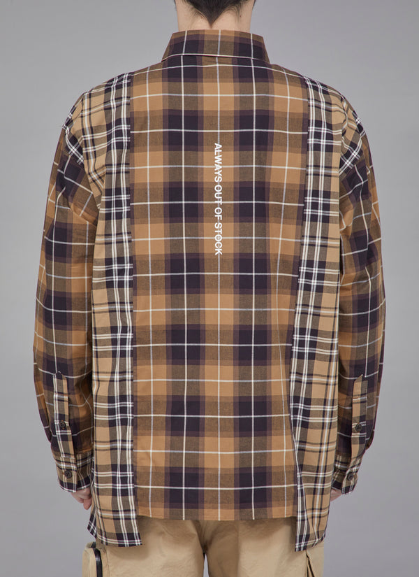 SWITCHED CHECKED L / S SHIRTS