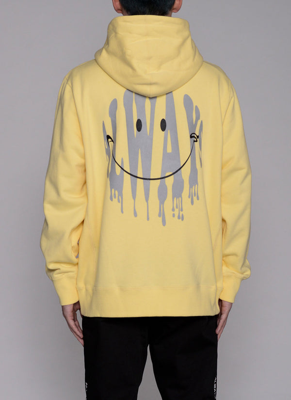 ALWAYS SMILE ZIP UP HOODIE-YELLOW
