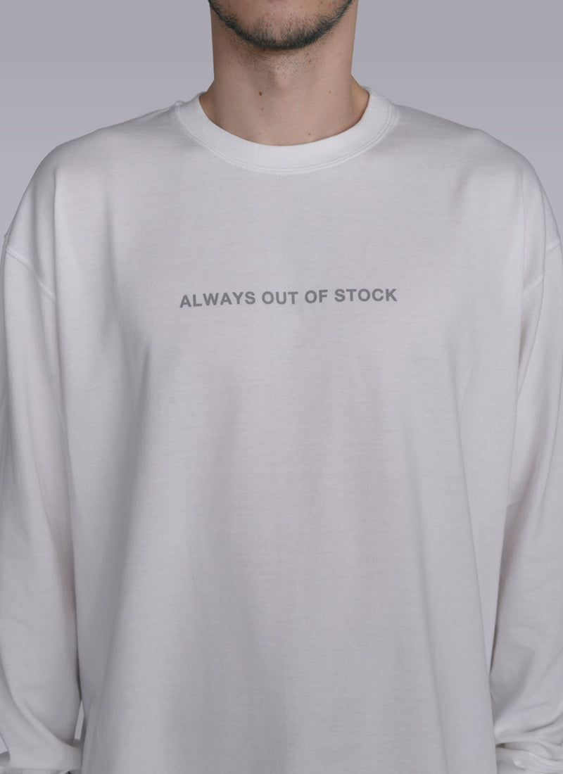 ALWAYS SMILE L/S T-WHITE