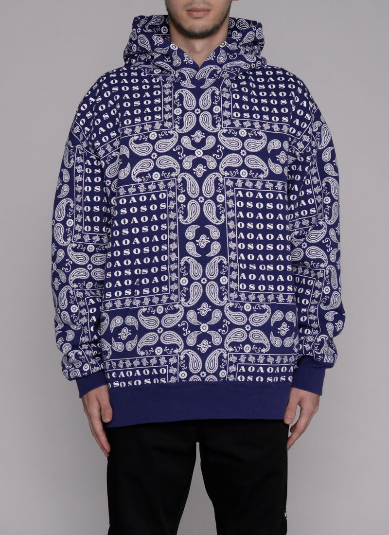 PAISLEY THICK PULLOVER-PURPLE