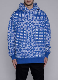 PAISLEY THICK PULLOVER-BLUE