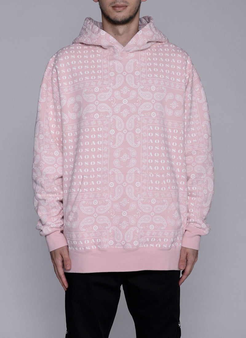 PAISLEY THICK PULLOVER-PINK