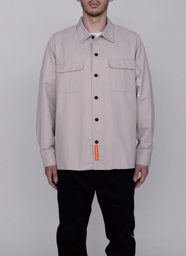 LOGO TUCK SHIRT-GREY