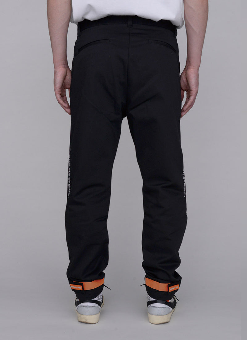 SLIM JOG CHINO PANTS-BLACK