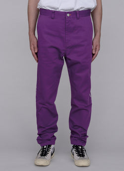 SLIM JOG CHINO PANTS-PURPLE