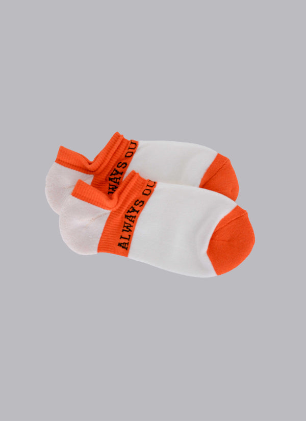 ALWAYS OUT OF SOCK-WHITE/ORANGE (ANKLE SOCKS)