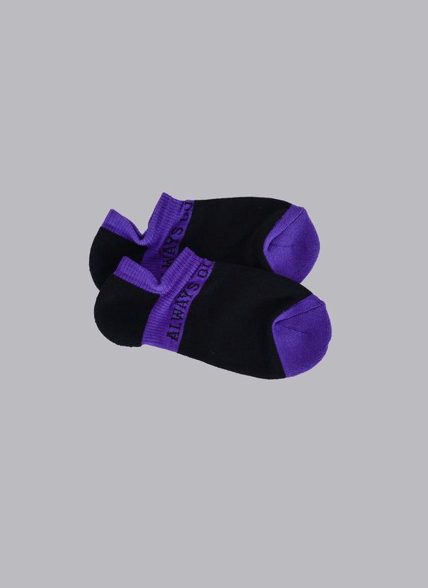 ALWAYS OUT OF SOCK-BLACK/PURPLE (ANKLE SOCKS)