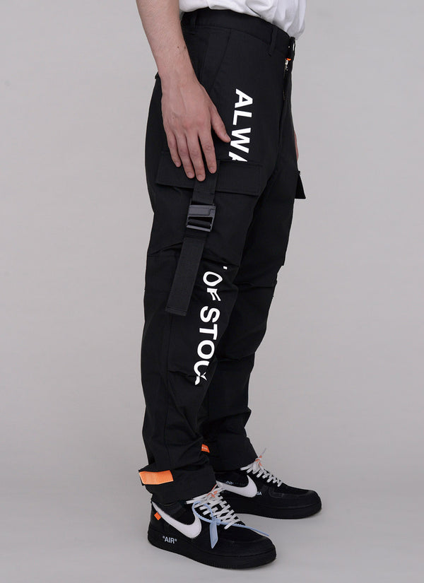 JOG FATIGUE PANTS-BLACK