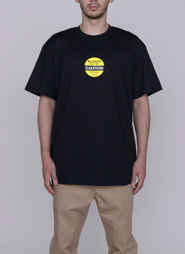 CAUTION TEE-BLACK