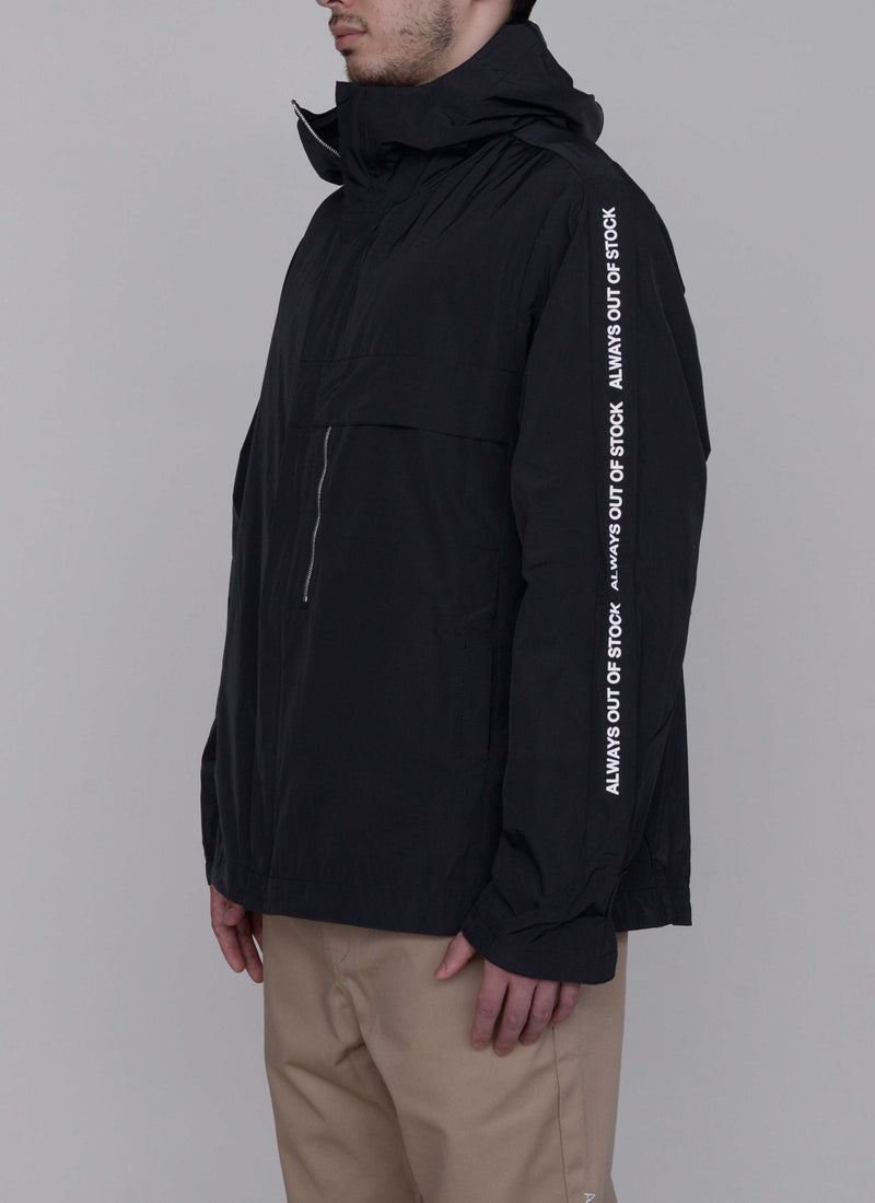 3D SHELL HOODED JACKET-BLACK