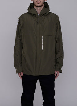 3D SHELL HOODED JACKET-OLIVE