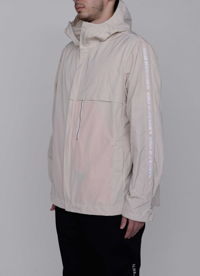 3D SHELL HOODED JACKET-OFF WHITE