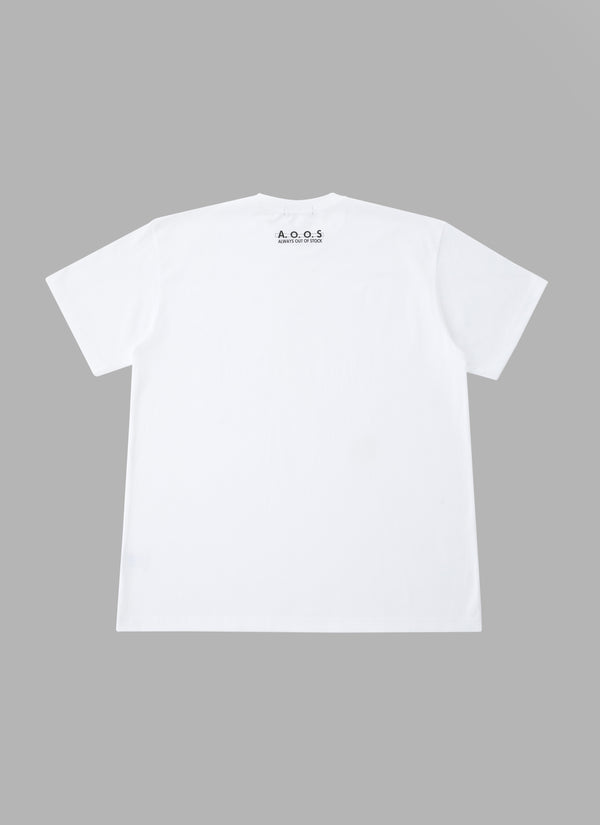 DOG TAG TEE-WHITE