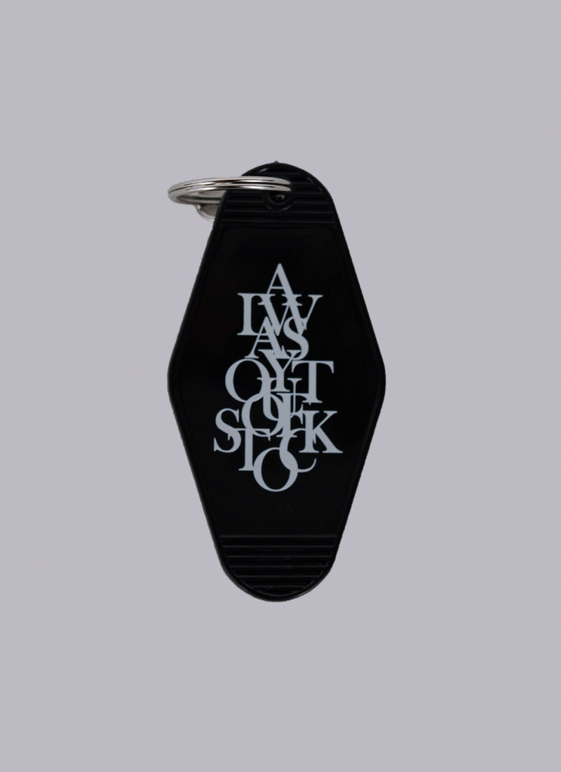 MOTEL KEY RING-BLACK