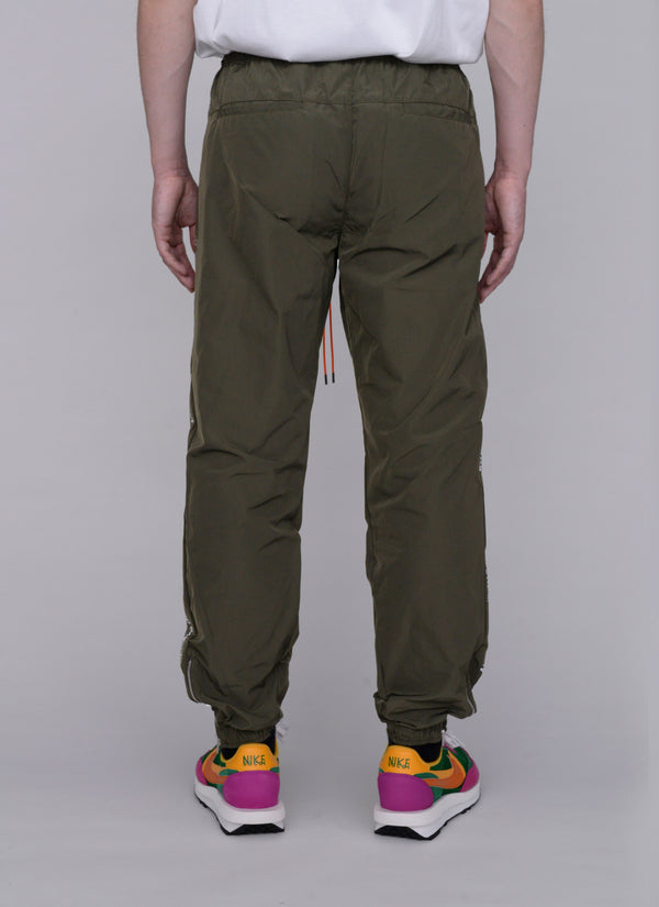 3D SHELL TRACK PANTS-OLIVE