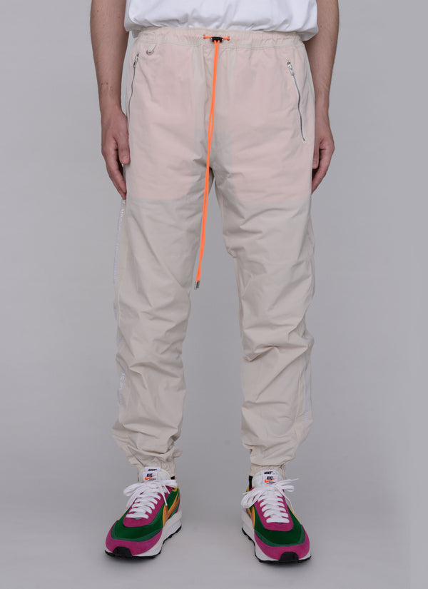 3D SHELL TRACK PANTS-OFF WHITE
