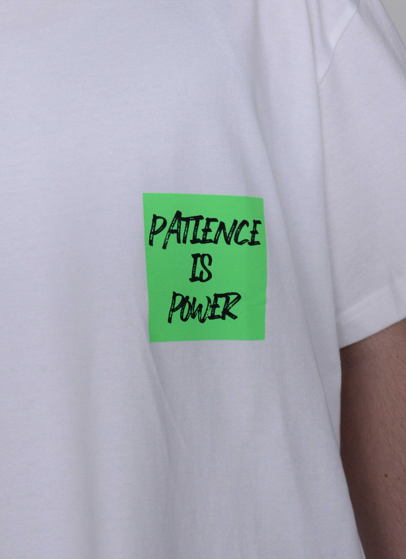 PATIENCE IS POWER TEE-WHITE